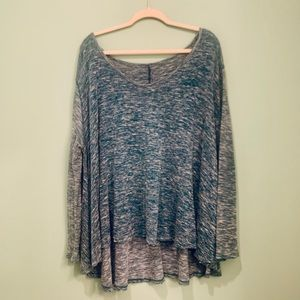 Free People teal Long sleeve shirt/pullover